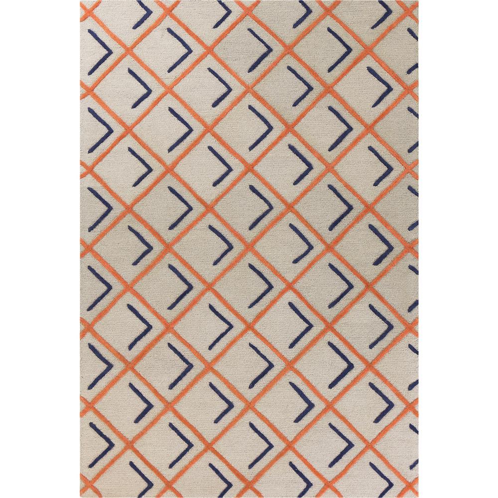 Soho Tangerine/Indigo Cooper Square 5 ft. x 7 ft. Area Rug