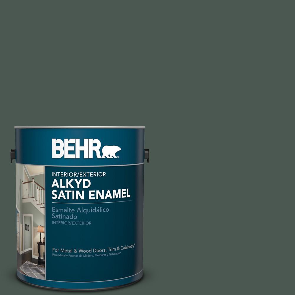 1 gal. #N420-7 Alpine Trail Satin Enamel Alkyd Interior/Exterior Paint