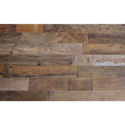 Reclaimed Barn Wood Brown Sealed 3/8 in. Thick x 5.5 in. Width x Varying Length Solid Hardwood Wall Planks (20 sq. ft.)