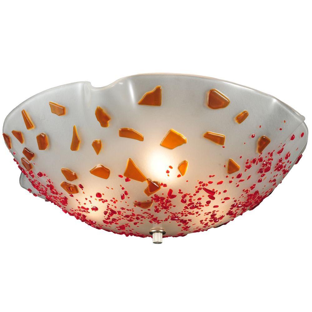 Illumine 3 Light Flushmount Fused Glass