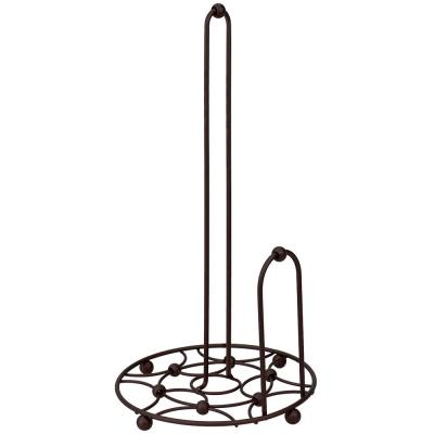 Arbor Collection Paper Towel Holder with Oil-Rubbed Bronze Side Dispensing Tear Bar