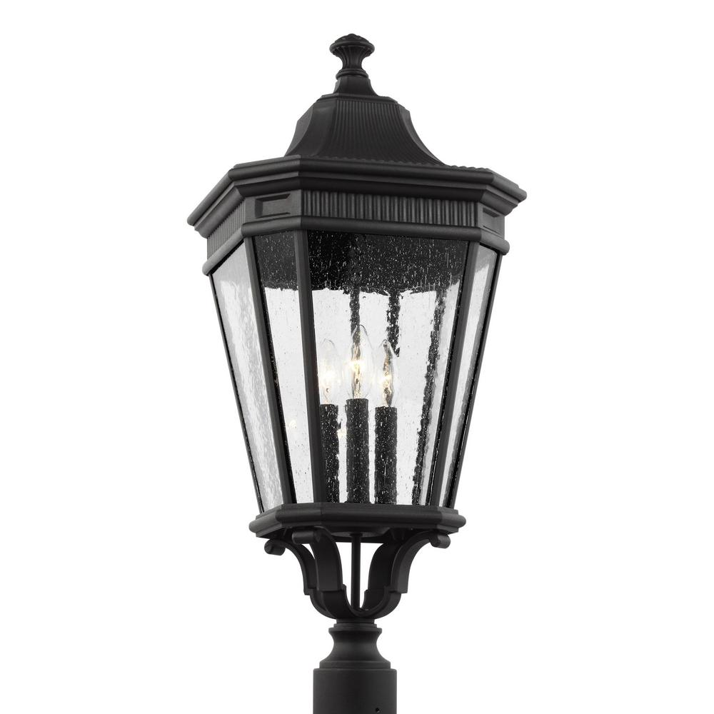 Feiss Cotswold Lane 3 Light Outdoor Black Post