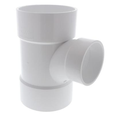 6 in. x 6 in. x 4 in. PVC DWV All Hub Sanitary Reducing Tee
