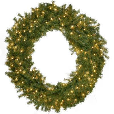 60 in. Norwood Fir Artificial Wreath with 300 Clear Lights