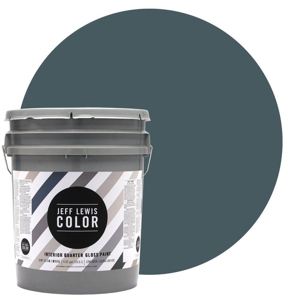 Jeff Lewis Color 5-gal. #JLC315 Lake Quarter-Gloss Ultra-Low VOC Interior Paint