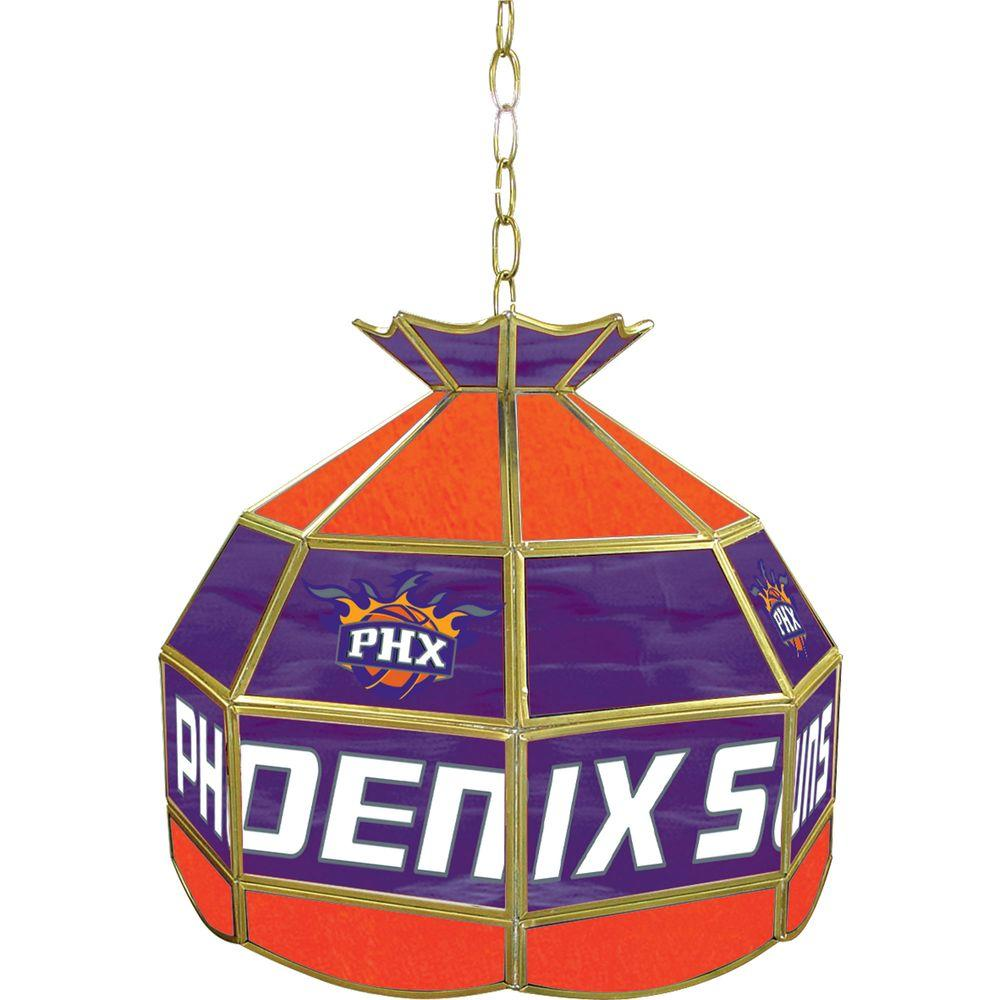 Phoenix Suns NBA 16 in. Nickel Hanging Tiffany Style Lamp