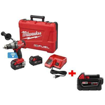 M18 FUEL 18-Volt with ONE-KEY 1/2 in. Brushless Hammer Drill/Driver with Free M18 18-Volt Lithium-Ion 5Ah XC Battery