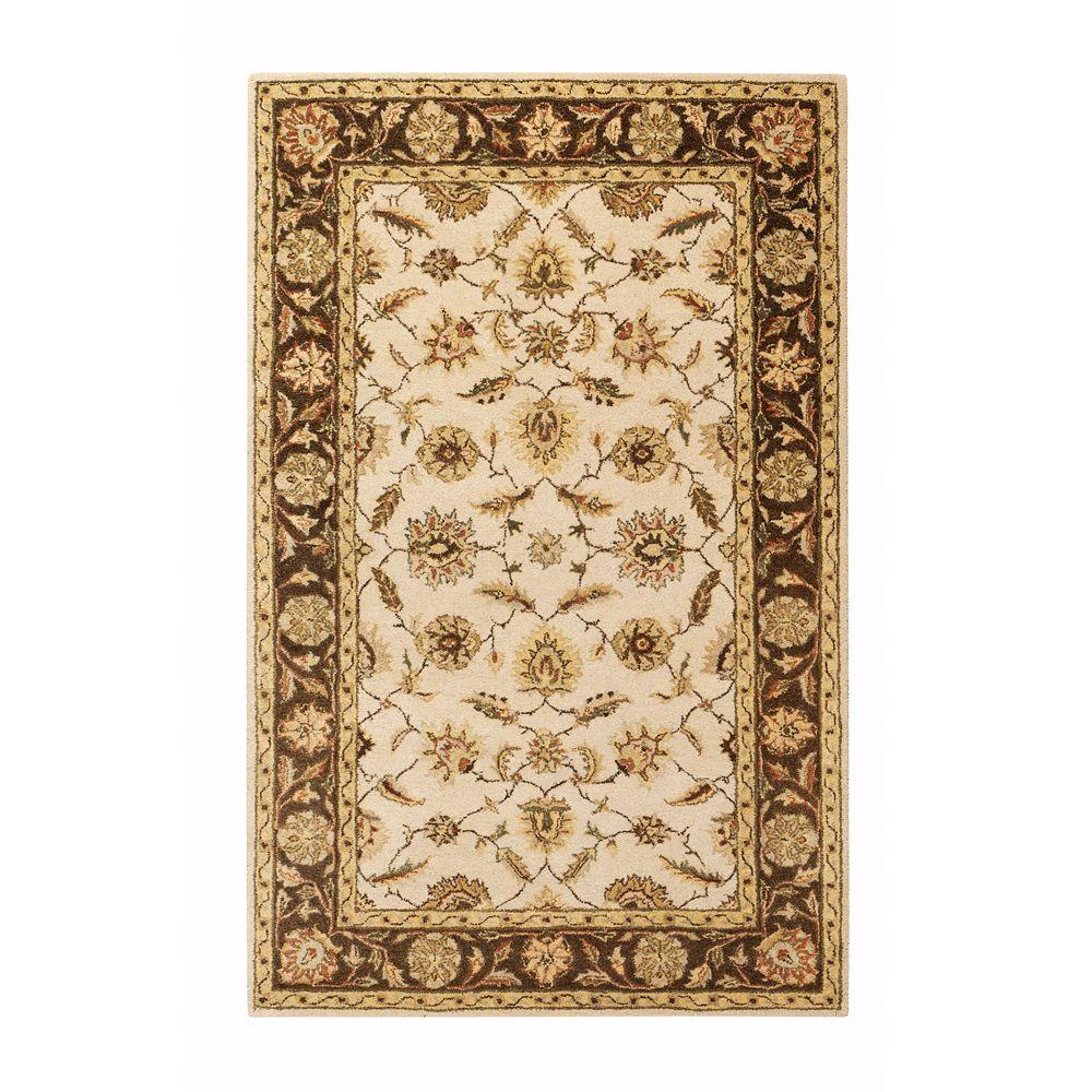 Old London Beige 6 ft. x 9 ft. Area Rug