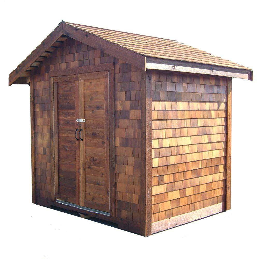 Greenstone 8 ft. x 12 ft. Cedar Shed Precut Kit-DISCONTINUED