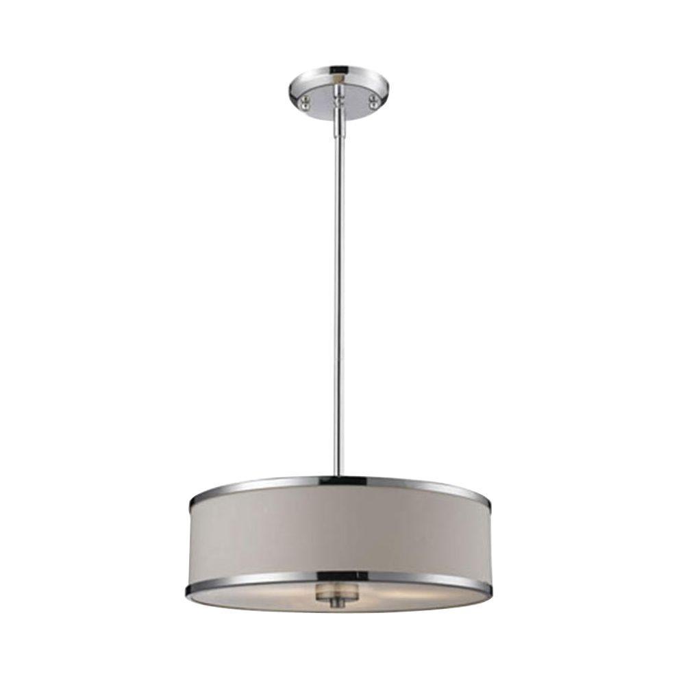 Lawrence 3-Light Chrome Incandescent Ceiling Pendant