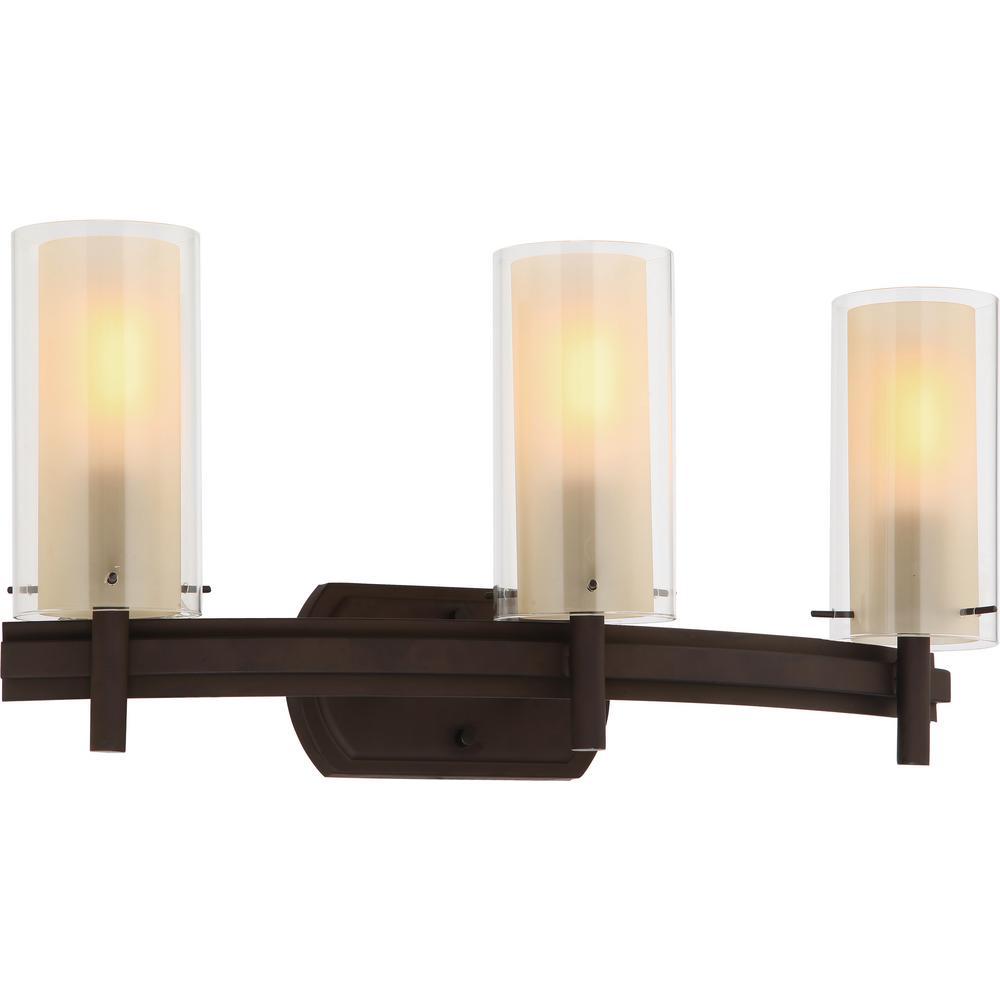 Volume Lighting Regina 3-Light 8 In. Antique Bronze