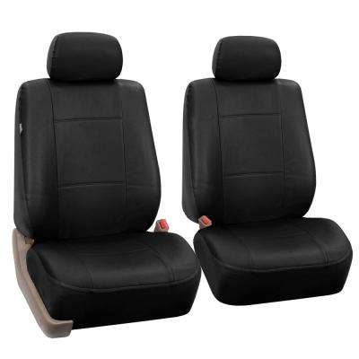 Premium PU Leather15 in. x 12 in. x 6 in. Half Set Front Seat Covers