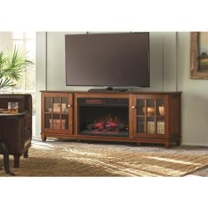 Home Decorators Collection Westcliff 66 inch Lowboy TV Stand Electric Fireplace in... by Home Decorators Collection