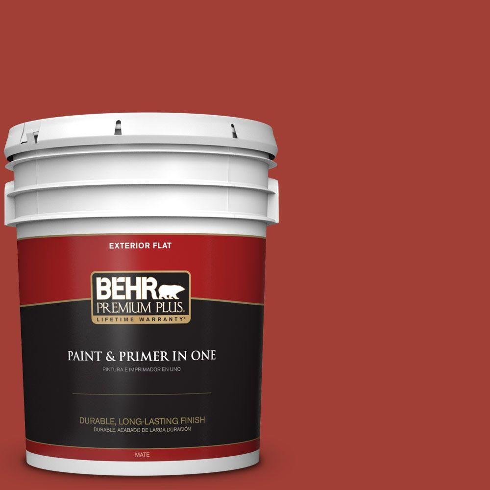 5 gal. #HDC-SM16-12 Tomato Slices Flat Exterior Paint