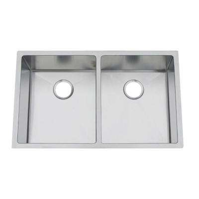 Professional Undermount Stainless Steel 19 in. Double Bowl Kitchen Sink