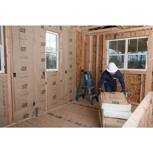 Johns Manville R 15 Kraft Faced Fiberglass Insulation Batt 23 In X 93 In 8 Bags K1232 The Home Depot