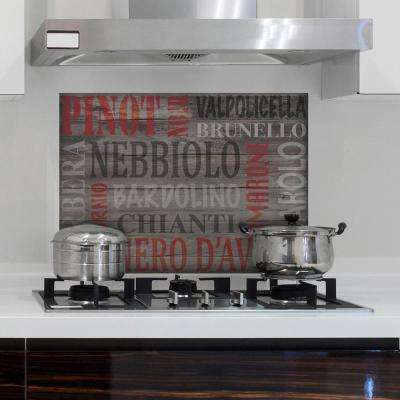 Brown Wine Kitchen Panel Wall Decal