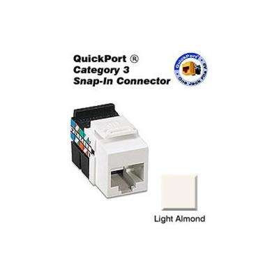 QuickPort CAT 3 Connector, Light Almond