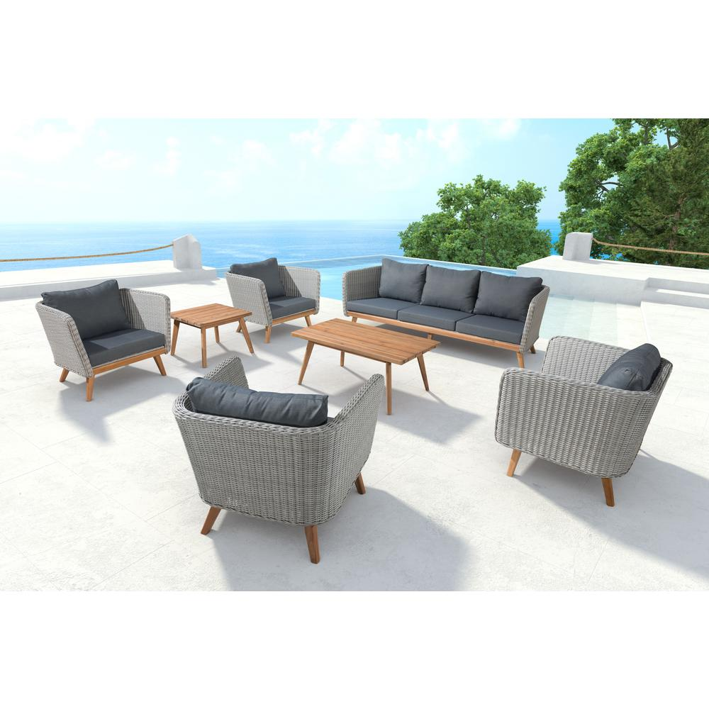 Ordinaire ZUO Grace Bay Patio Sofa In Natural And Gray