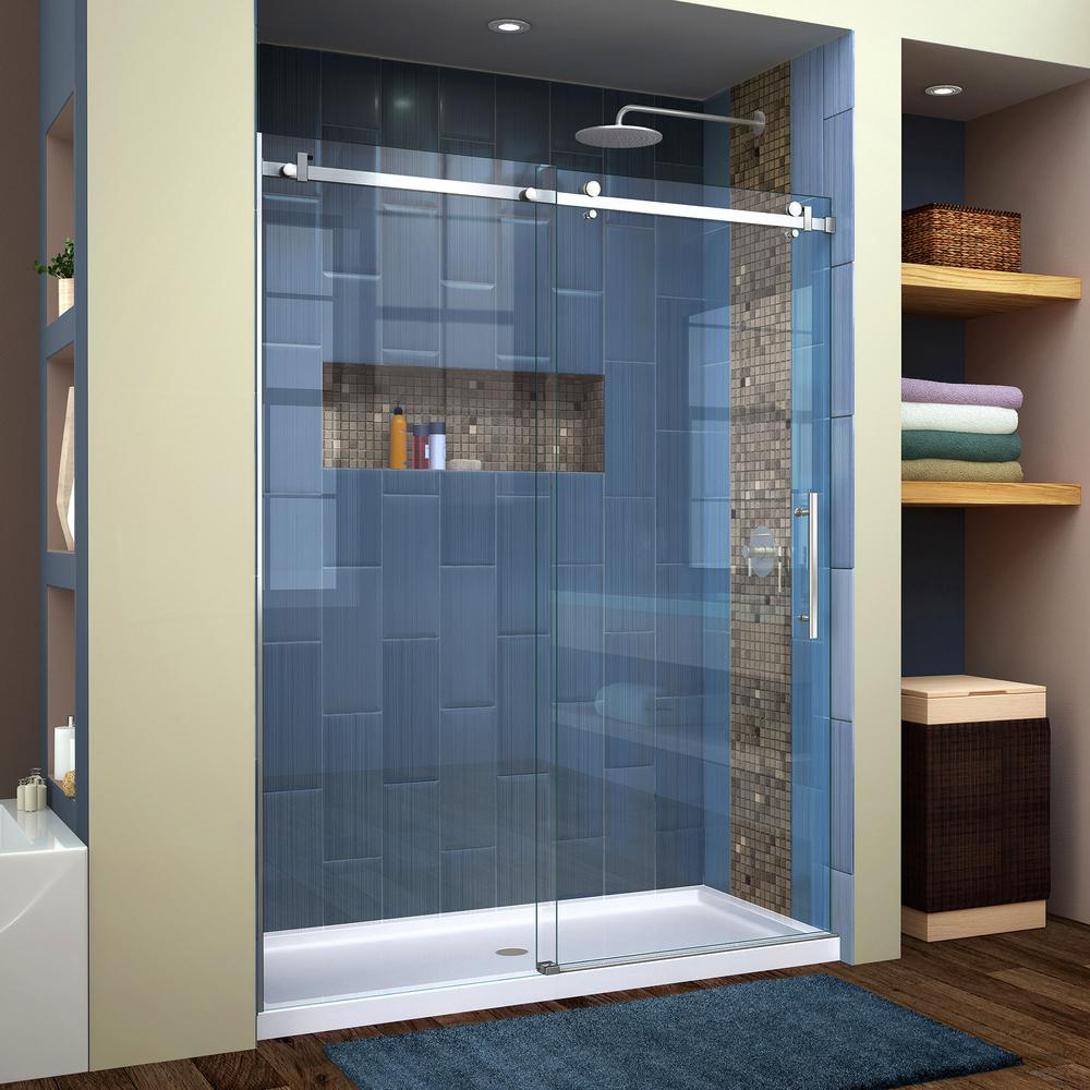Silver - DreamLine - Bypass/Sliding - Alcove Shower Doors - Shower ...