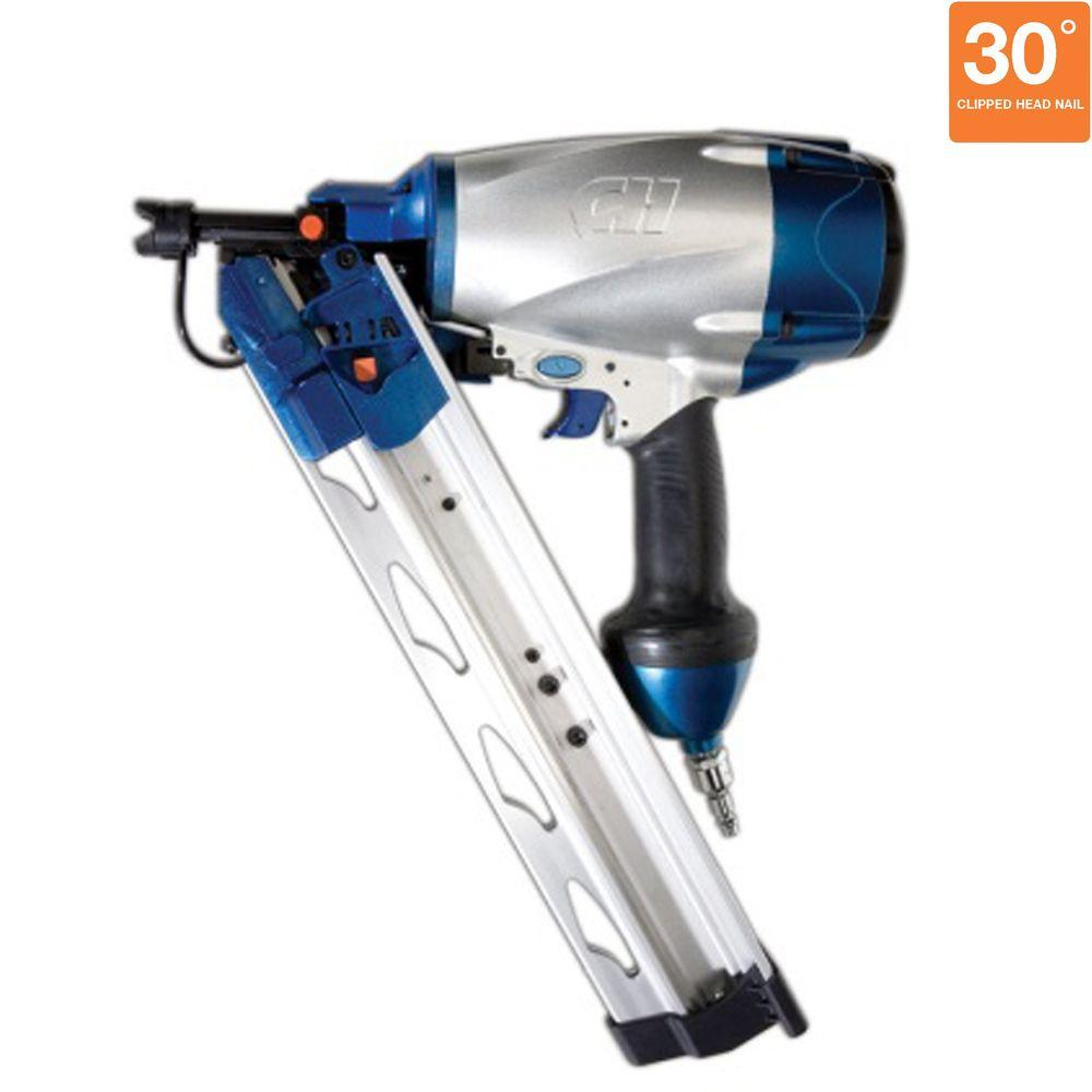 Campbell Hausfeld Pneumatic 3-1/2 in. Clipped Head Strip 34-Degree Framing Nailer-DISCONTINUED