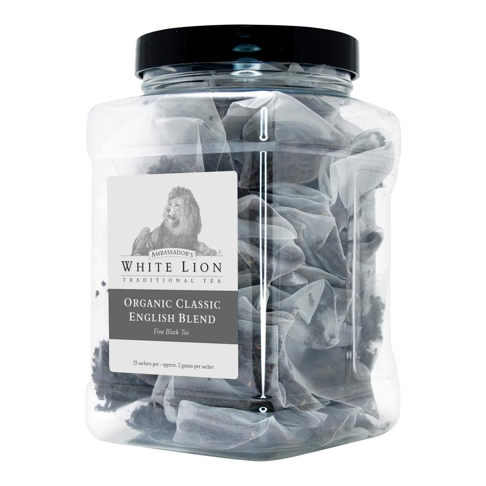 Tea Organic Classic English Blend Bulk 25 Sachets Retail Canister Tea