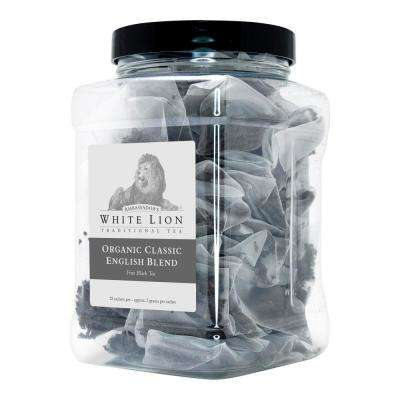 Tea Organic Classic English Blend Bulk 25 Sachets Retail Canister Tea Bags Sachets (25 per Pack)