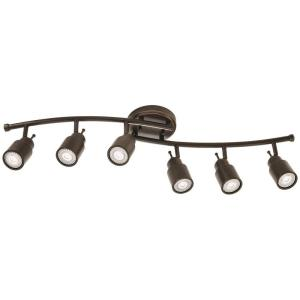 6light oilrubbed bronze linear step cylinder fixed track kit