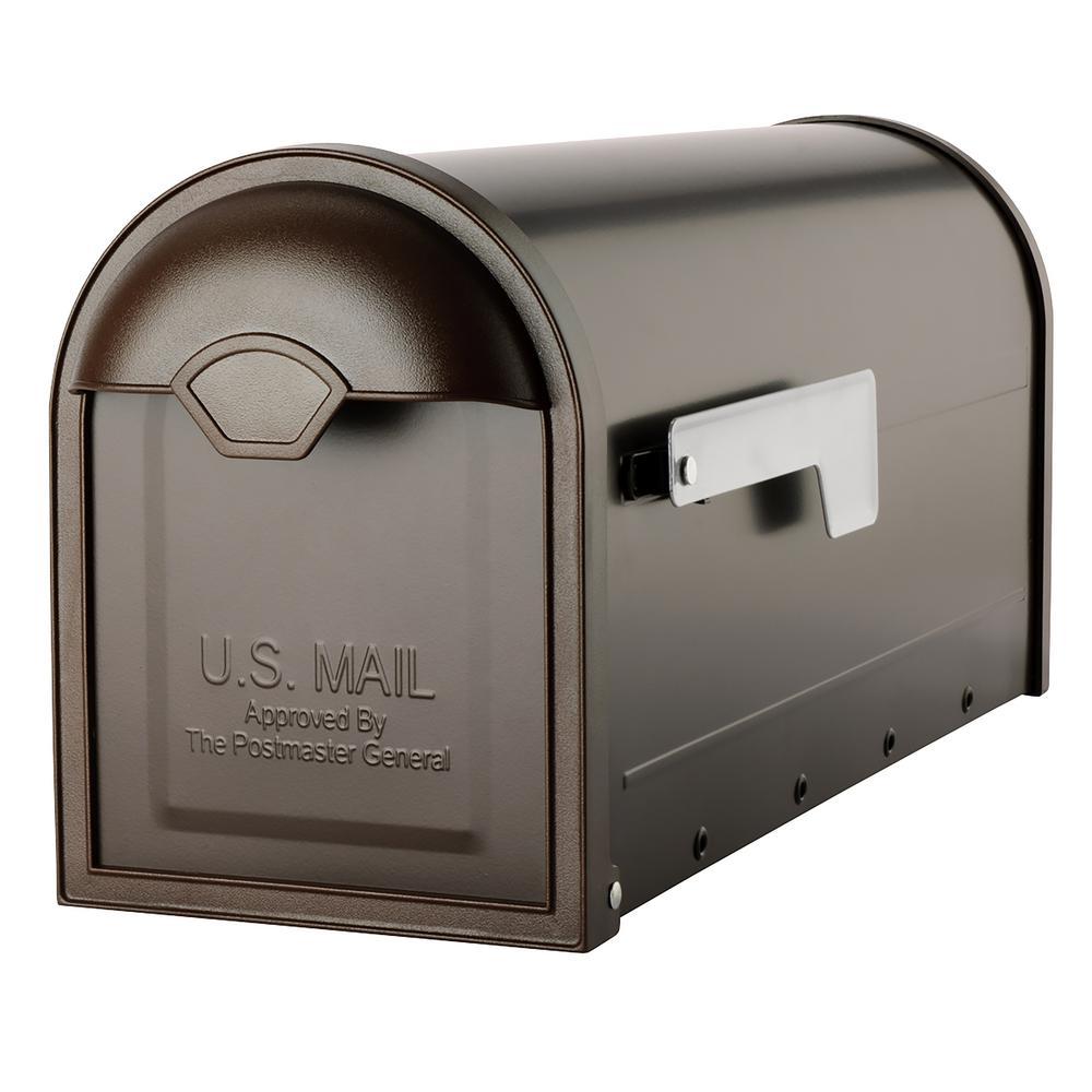 Winston Rubbed Bronze Post Mount Mailbox