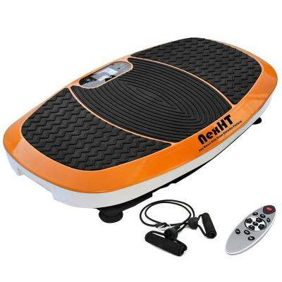 Vibration Platform Whole Body Massage/Exercise Fitness Trainer with Dual Motors, Resistance Bands, and Remote in Orange