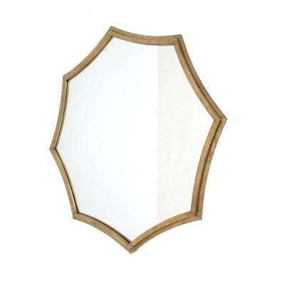 Gold Wood Decorative Wall Mirror