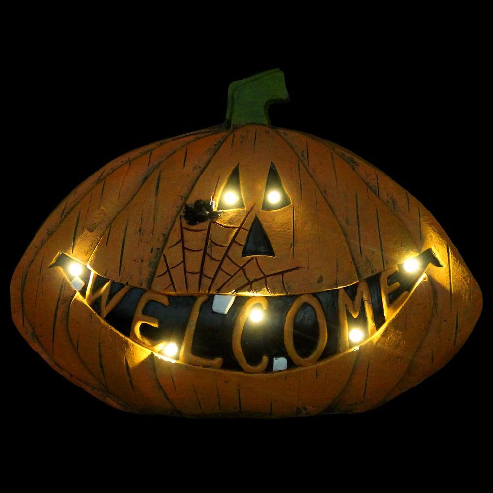 Welcome Harvest 11 in. Pumpkin