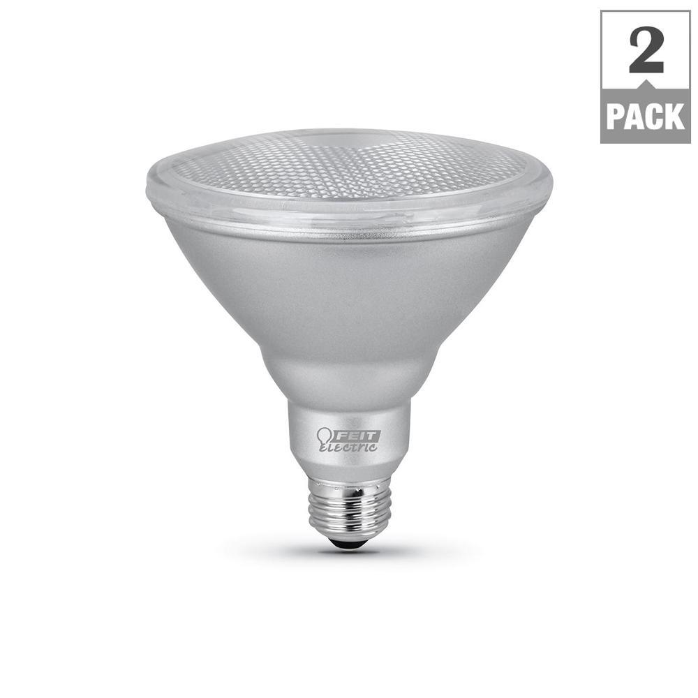 90-Watt Equivalent PAR38 Dimmable CEC LED Energy Star 90+ CRI Flood Light Bulb Daylight (2-Pack)