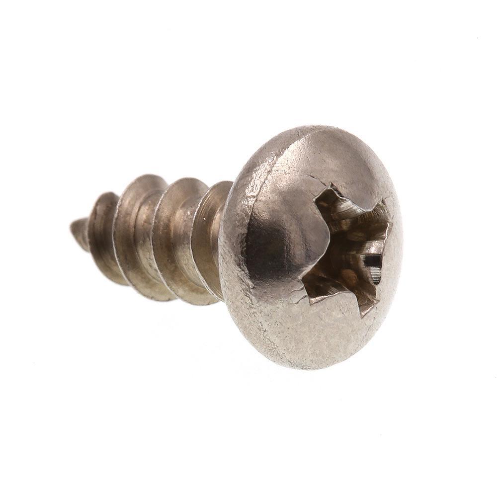 self Tapping Screws for Metal Slotted pan Head Sheet Metal Tapping Screws Stainless Steel #12X5//8 250 Pcs self Tapping Metal Screws