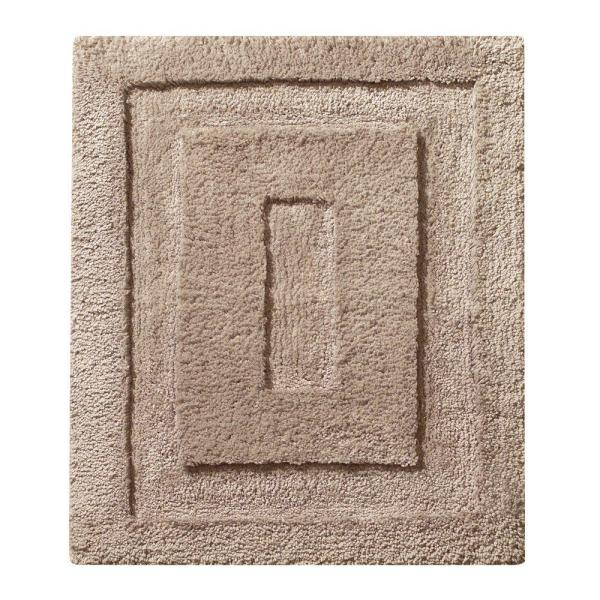 21 in. x 17 in. Spa Small Bath Rug in Linen