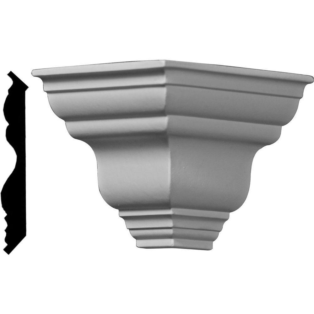 3-7/8 in. x 3-7/8 in. x 3-7/8 in. Polyurethane Crown Outside Corner Moulding
