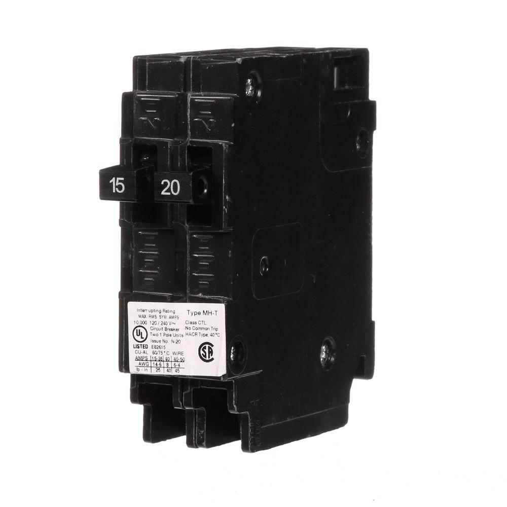 Murray 15 20 amp single pole type mh t tandem circuit for Bathroom 15 or 20 amp
