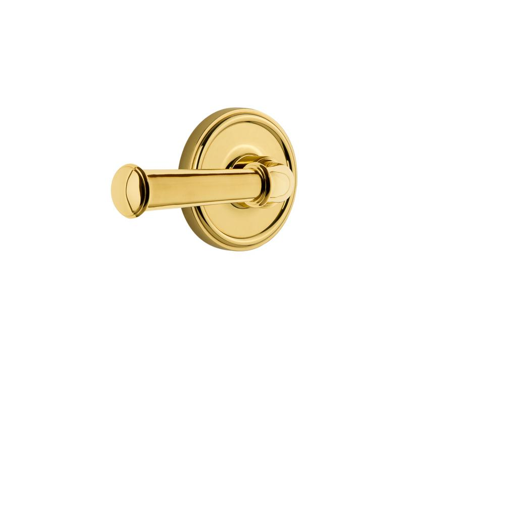 Georgetown Plate Double Dummy with Georgetown Door Lever in Lifetime Brass