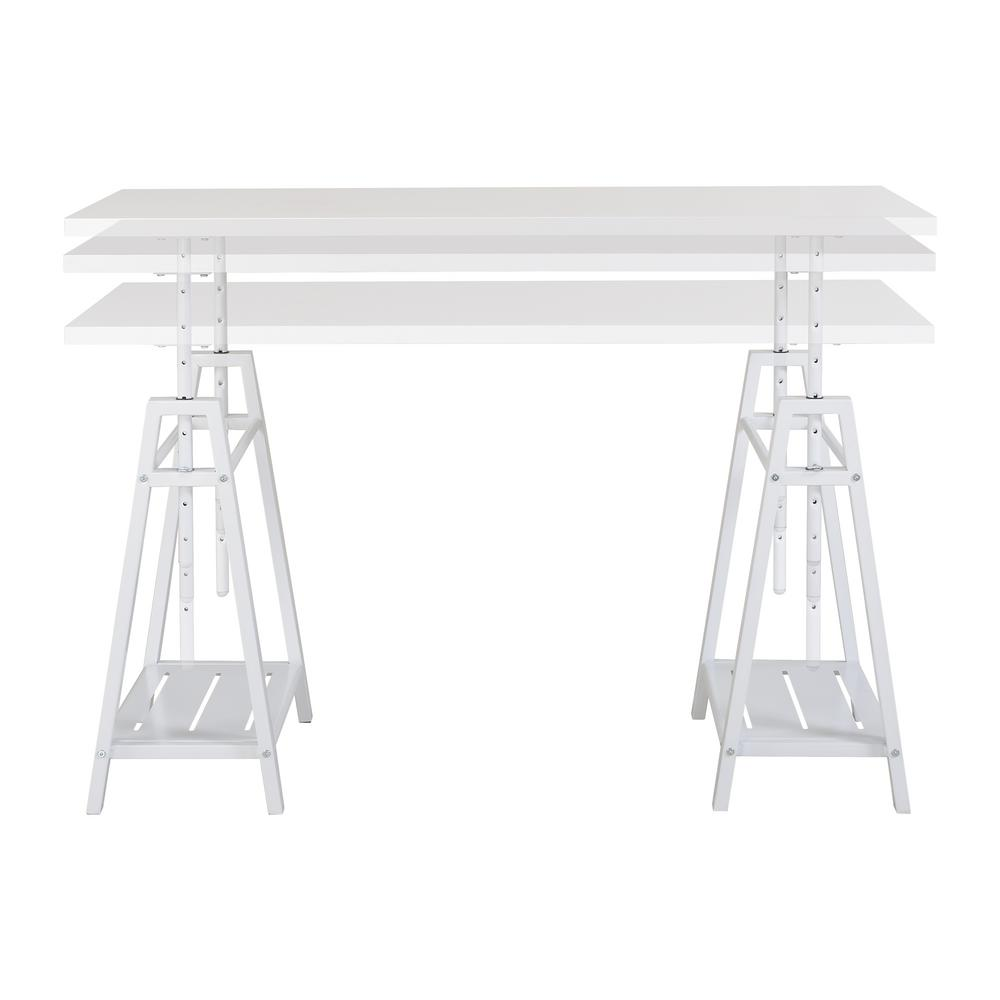 Sedona Height Adjustable Desk in White