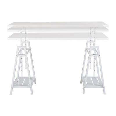Sedona Height Adjustable Desk in White