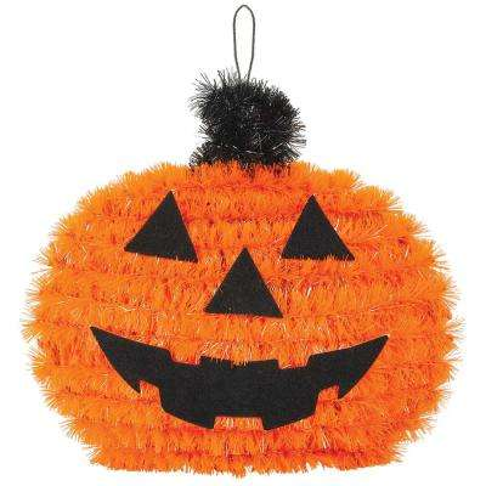 4.5 in. x 5.25 in. x 2.5 in. Pumpkin Tinsel Decoration (5-Pack)