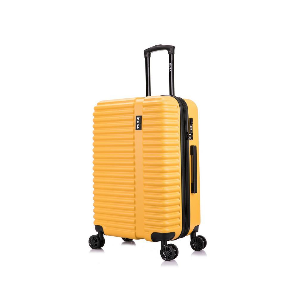 Ally 27 in. Mustard Lightweight Hardside Spinner Suitcase