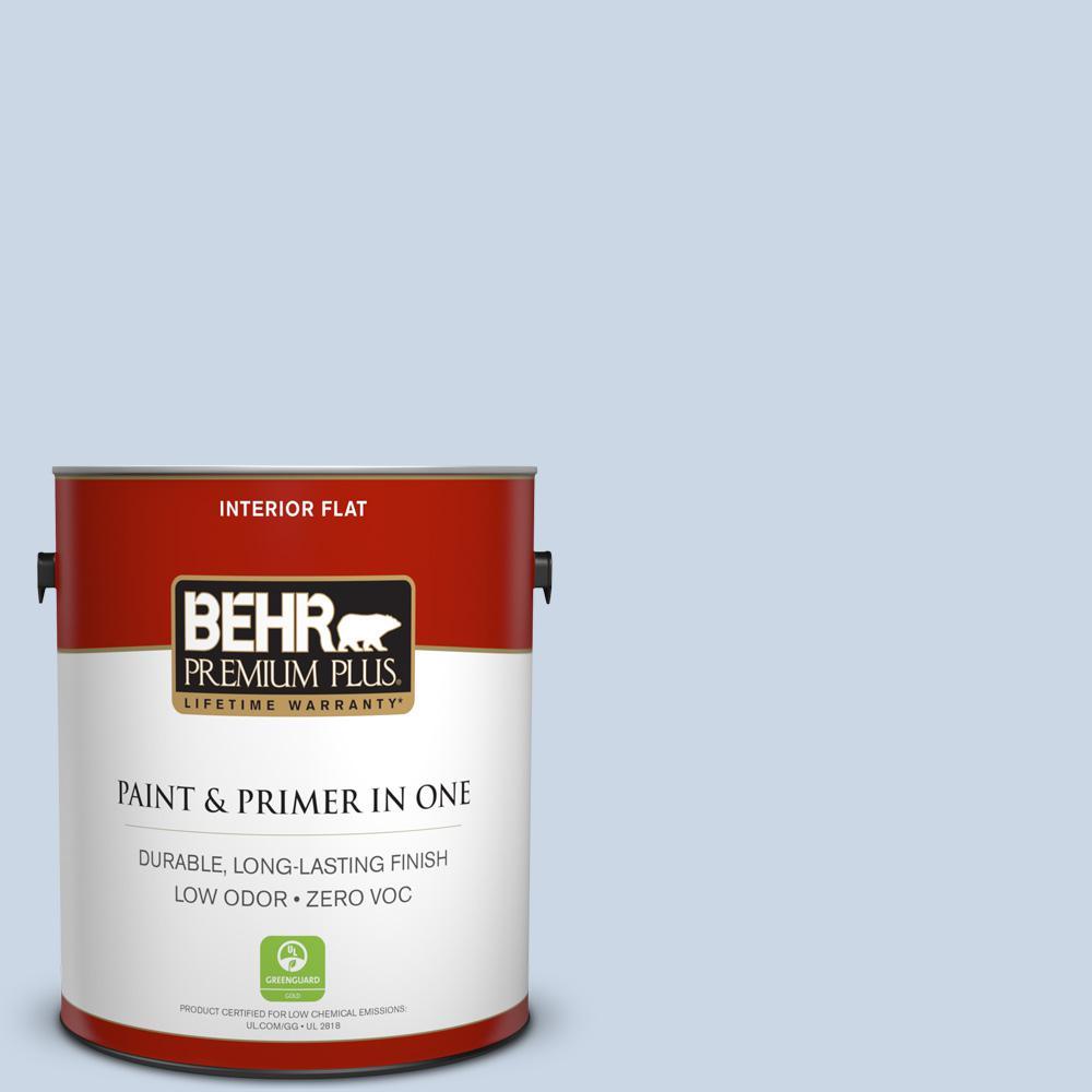 BEHR Premium Plus 1-gal. #600C-2 Silent Ripple Zero VOC Flat Interior Paint