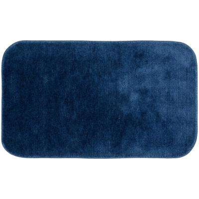 Traditional Navy 24 in. x 40 in. Plush Nylon Bath Mat