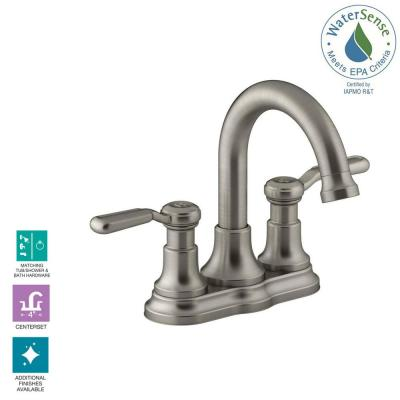 Worth 4 in. Centerset 2-Handle Bathroom Faucet in Vibrant Brushed Nickel