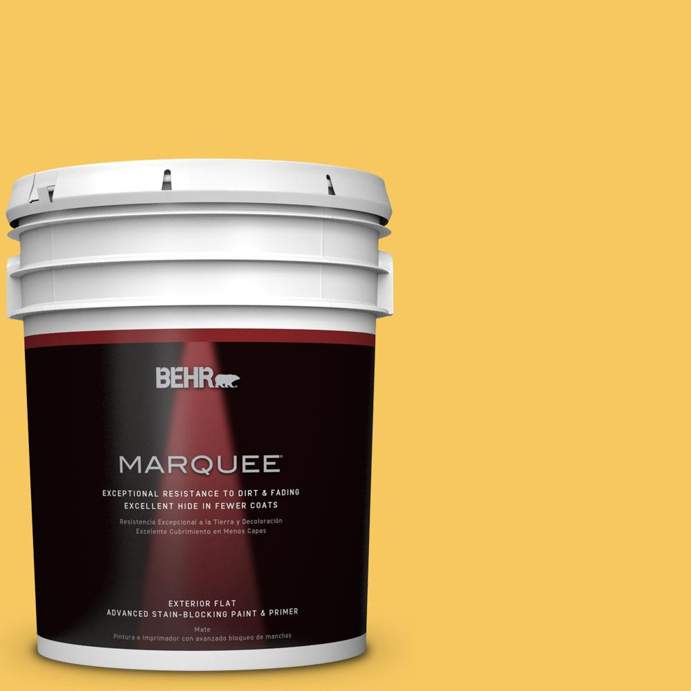 BEHR MARQUEE 5-gal. #P280-5 Little Sun Dress Flat Exterior Paint