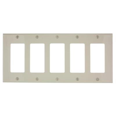 5 Gang Light Switch Plates Wall Plates The Home Depot