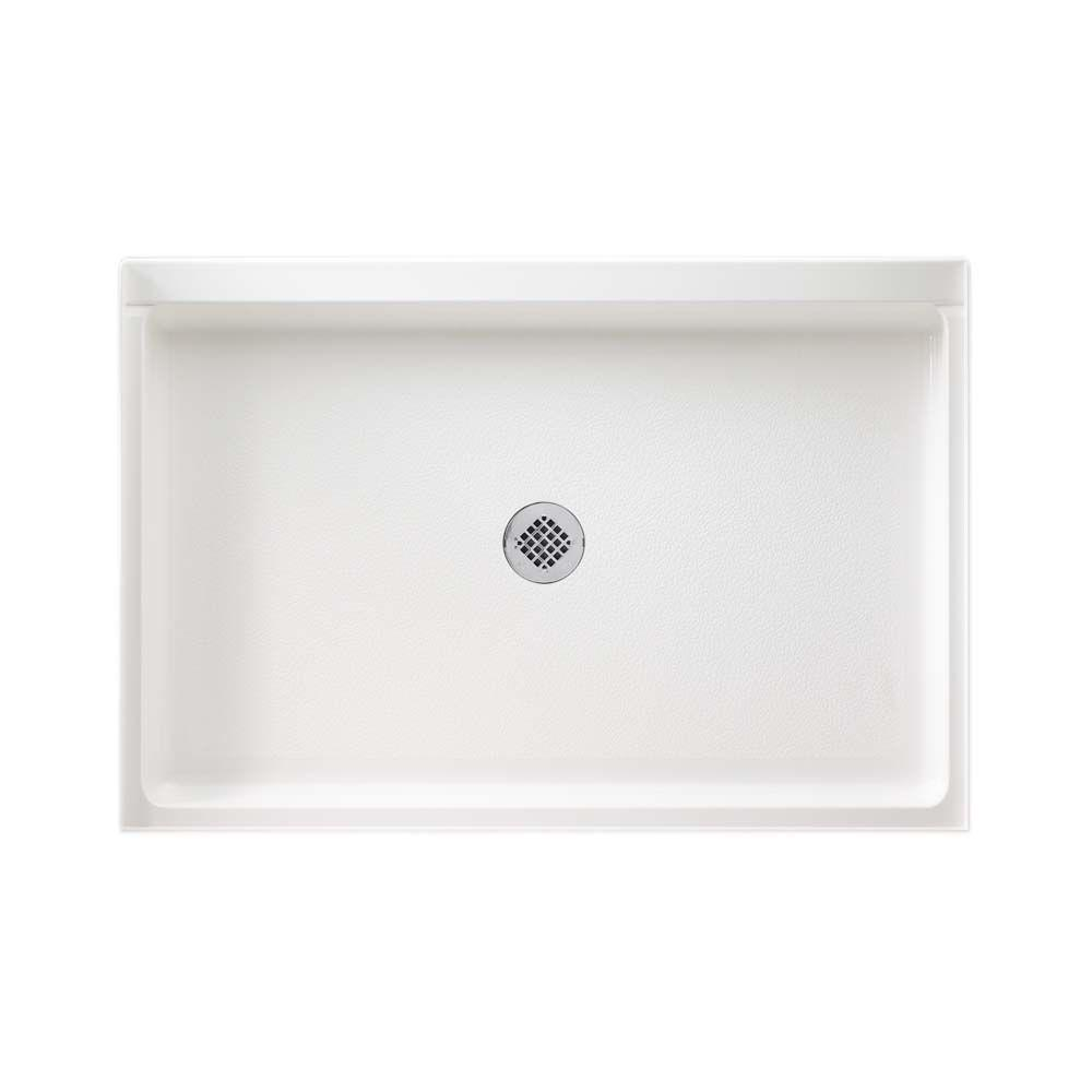 Swan 32 in. x 48 in. Solid Surface Single Threshold Shower Floor in White