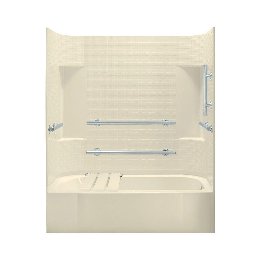 STERLING Accord 30 in. x 60 in. x 72 in. Standard Fit Bath/Shower Kit in Almond