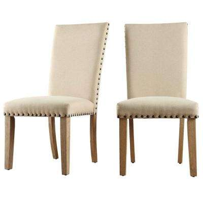 Upton Beige Linen Dining Chair (Set of 2)